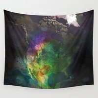 america Wall Tapestries featuring North America by Dnzsea