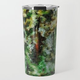 Abstract Landscape of a Forest Travel Mug