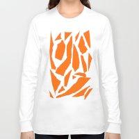 orange pattern Long Sleeve T-shirts featuring Orange by osile ignacio