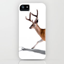The Buck in Snow (Color) iPhone Case