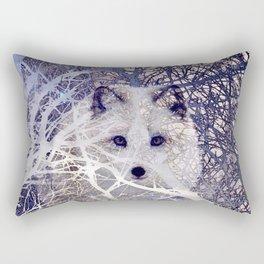 Winter Fox I Rectangular Pillow