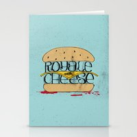 pulp fiction Stationery Cards featuring Pulp Fiction by Drew Wallace