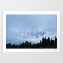 the mighty mount rainier Art Print