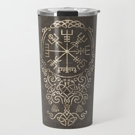 Vegvisir and Tree of life  - Yggdrasil Travel Mug