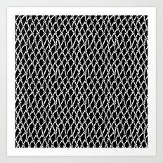 Net Black Art Print