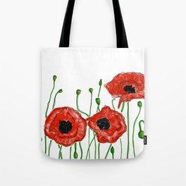 Poppy Illustration Tote Bag