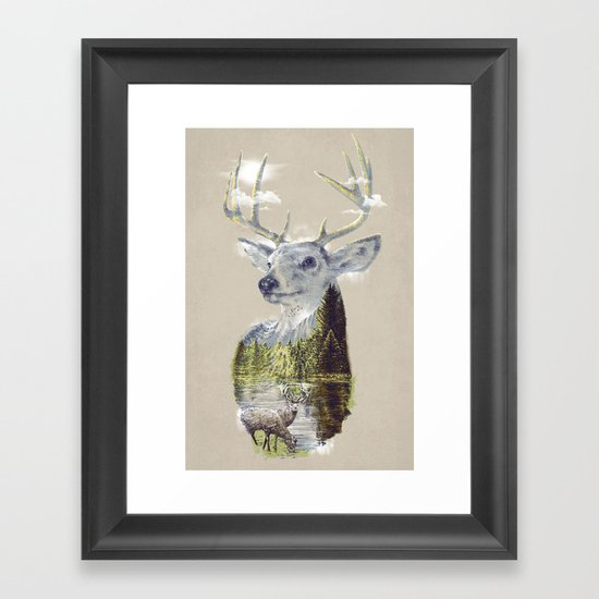 Mo'deer' Nature Framed Art Print