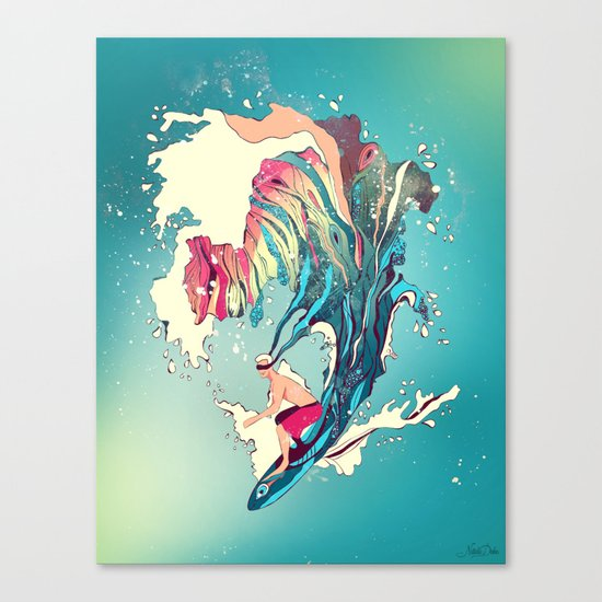 Blind Surfer Canvas Print
