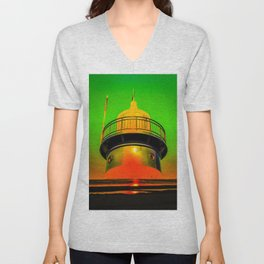Lighthouse romance 100 Unisex V-Neck