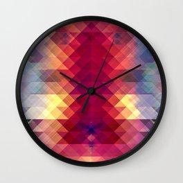 Abstract Geometric Spectrum Wall Clock