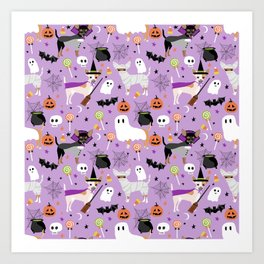 Chihuahua halloween cute spooky seasonal dog pattern chihuahuas Art Print