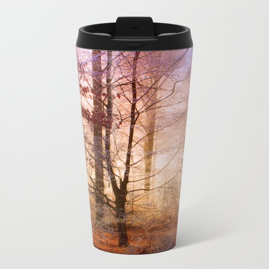 ORANGE FOREST FLOOR Metal Travel Mug
