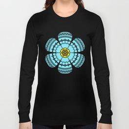 Hippie Geometric Flower Long Sleeve T-shirt