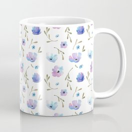 Blue watercolor flowers Coffee Mug