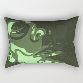 Olive Resting Bitch Face Portrait Rectangular Pillow