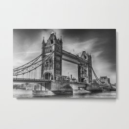 Tower Bridge Black and White  Metal Print