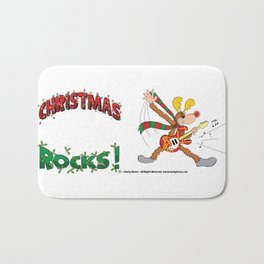 Christmas Rocks Drinkware Bath Mat