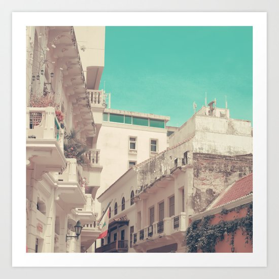In this summer days (vintage urban photography) Art Print