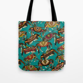 crabs teal Tote Bag