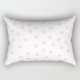 Simply Dots in Pink Flamingo Rectangular Pillow