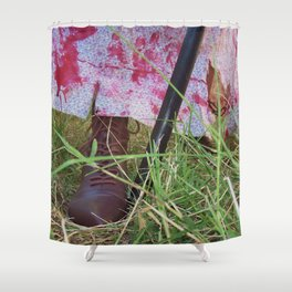 Regency Era Zombie Hunter Shower Curtain