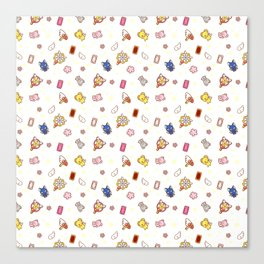 cardcaptor sakura cute stuff pattern Canvas Print
