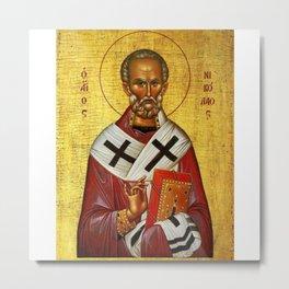 Saint Nicholas of Myra - Nicholas of Bari, was an early Christian bishop Metal Print