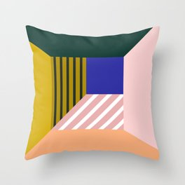 Abstract room b Throw Pillow