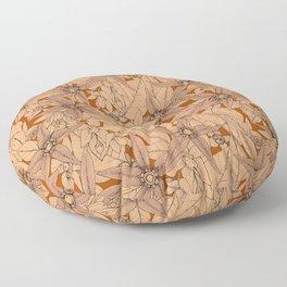 deadly nightshade rust Floor Pillow