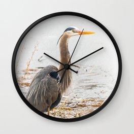 April Blue Heron Wall Clock
