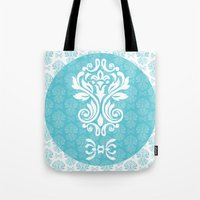 damask Tote Bags featuring Damask by VanyNany
