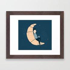 Ze Croissant Moon Framed Art Print