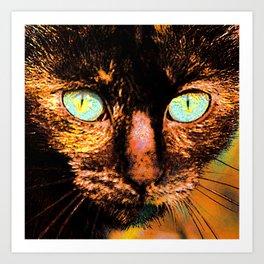 Fluffy's eyes, painterly Art Print