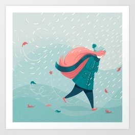 The end of Autumn Art Print