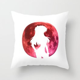 Anime Moon Inspired Shirt Throw Pillow