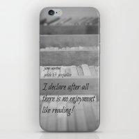 jane austen iPhone & iPod Skins featuring Jane Austen Reading by KimberosePhotography