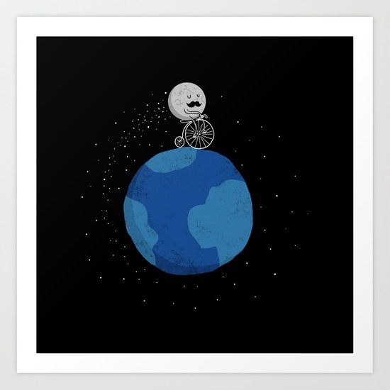 Moon Cycle Art Print