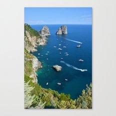 Capri, Faraglioni Canvas Print