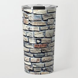 Grey tiles brick wall Travel Mug
