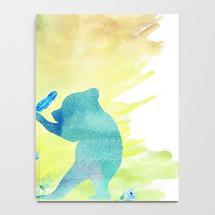 Playing bear kids - Animal Watercolor illustration Notebook