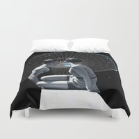 discount Duvet Covers featuring Check it out by TRASH RIOT