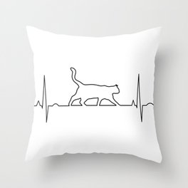 Cat Amplitude Throw Pillow