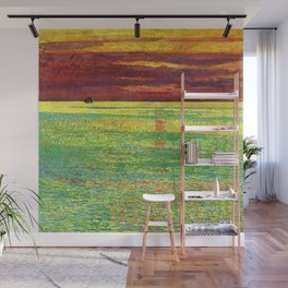 Classical Masterpiece 'Sunset at Sea' by Frederick Childe Hassam Wall Mural