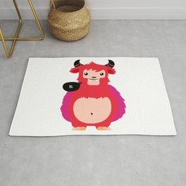 HI! - Cute red cow Rug