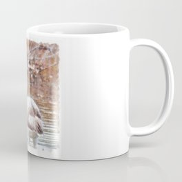 Flamingo Feathers Watercolor Coffee Mug