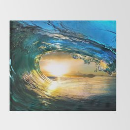 Glowing Wave Throw Blanket