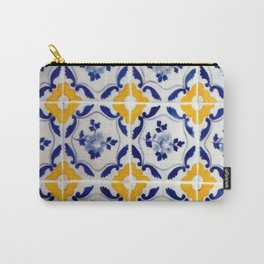 Blue and yellow tile Carry-All Pouch