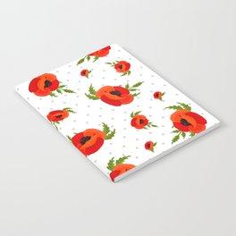 Poppy Flowers Pattern Notebook