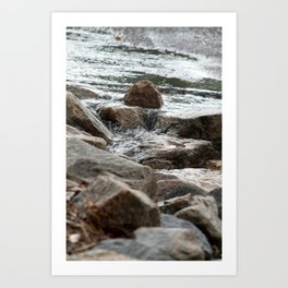 Watery brook  Art Print