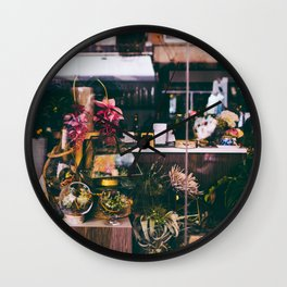 NYC Floral Shop Wall Clock